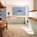 Tipos de materiales en muebles de cocina